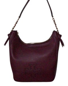 Tory Burch Leather Goldtone Hobo Bag