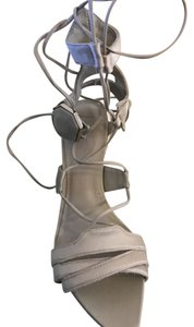 Hervé Leger Pale Gray Sandals