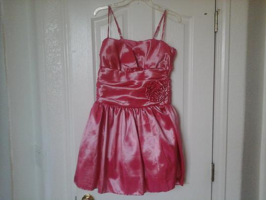 Jessica McClintock Pink Salmon Polyester Girls Collection Formal Bridesmaid/Mob Dress Size 6 (S)
