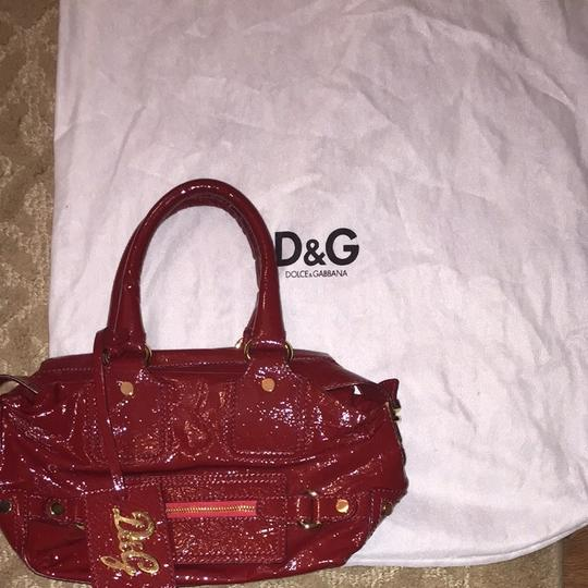Dolce&Gabbana D&g Dolce And Gabana Patent Satchel in Red
