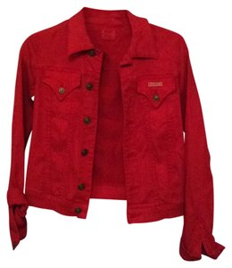 Hudson Jeans Red Womens Jean Jacket