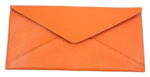 Hermès Hermes Orange Leather Envelope Travel Document Pouch
