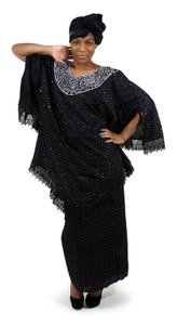 Boutique 9 Million Stone Lace Skirt Set...Fits up to a 52