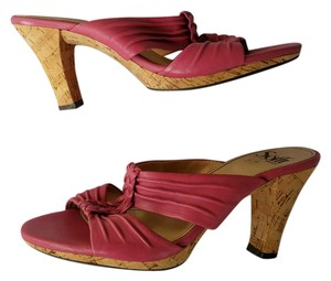 Söfft Leather Cork Pink Sandals