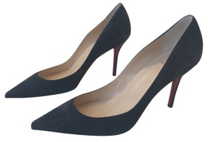 Christian Louboutin Apostrophy Gray Pumps