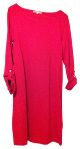 Gap Casual Red Pink Cotton Dress