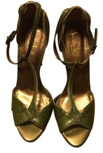 Nicole Miller green/gold piping Formal