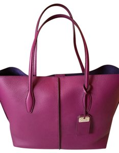 Tod's Brand New Leather From Italy Tote in Violet