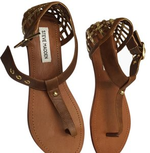 Steve Madden cognac and gold Sandals