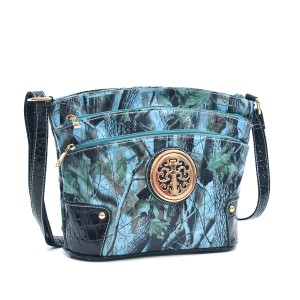 Realtree Classic Crossbody The Treasured Hippie Camouflage Army Blue Messenger Bag