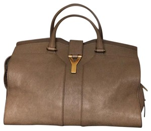 Saint Laurent Ysl Cabas Chyc Satchel in Taupe
