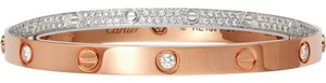 Cartier CARTIER LOVE BRACELET DIAMOND-PAVED WITH WHITE GOLD PINK GOLD SIZE 18