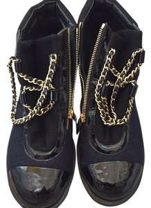 Chanel black and blue Boots