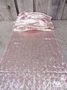 10 Sequin Table Runners - Beautiful Blush Pink Rose Gold Color