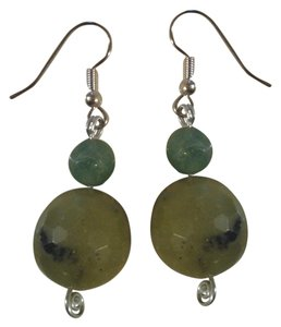 Other NEW Handmade Genuine Gemstone Green Serpentine and Aventurine Beaded EARRINGS Buy3Get1FREE Sale!
