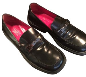 Gucci Womens Loafer Black Wedges