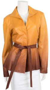 Lafayette 148 New York Brown & Tan Leather Jacket
