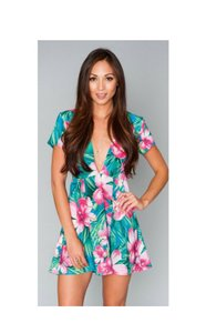 Show Me Your Mumu short dress Muiticolor Mini Tropical Colorful on Tradesy