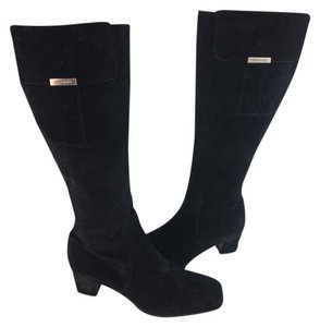 Saint Laurent Ysl Suede Vintage Black Boots