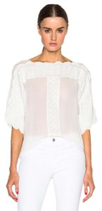 Isabel Marant Zimmermann Iro Dvf Tory Burch Top White