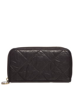 Lanvin Lanvin Black Quilted Leather Zip-Around Wallet