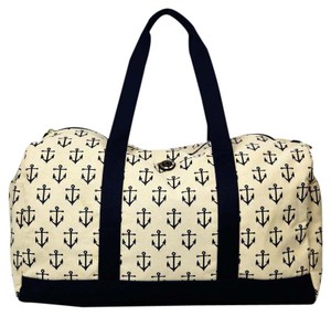 Tommy Hilfiger Travel Cream and Navy Travel Bag