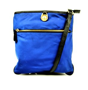 Michael Kors Electric Blue Kempton Canvas Cross Body Bag