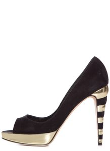 Brian Atwood Black & Gold Pumps