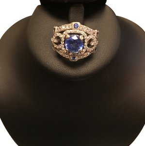 Other Diamond And Sapphire White Gold Ring