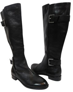 Via Spiga Equestrian Leather Black Boots