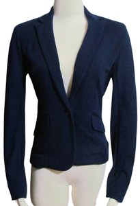 Jones New York Petite Cotton Blue Blazer