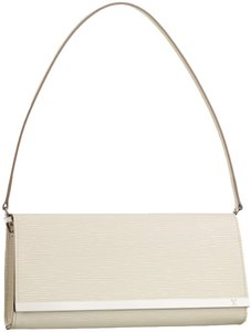 Louis Vuitton Classic Leather Epi White Clutch