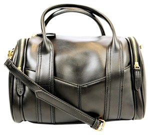 Steve Madden Pleather Bpully Satchel in Black