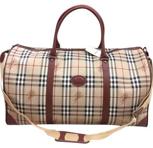 Burberry Travel Brown Travel Bag