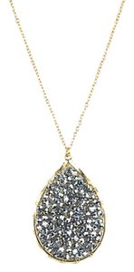 Panacea Cache Crystal Teardrop Necklace