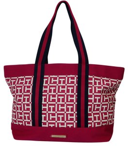 Tommy Hilfiger Navy Design Tote in Pink