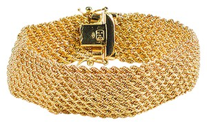 Other Unoaerre 18k Yellow Gold Woven Link Mesh Bracelet