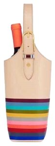 Tory Burch NWT TORY BURCH MULTI-COLOR LEATHER WINE TOTE CARRIER
