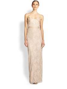 Marchesa Notte Lace Strapless Dress