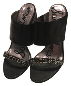 Sam Edelman black and black and white Sandals