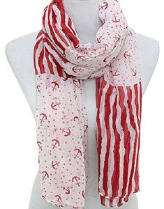 Preload https://item5.tradesy.com/images/red-white-nautical-by-the-sea-anchor-stripe-and-scarfwrap-2040459-0-0.jpg?width=440&height=440