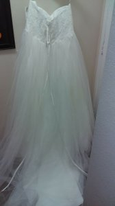 David's Bridal 9wg3633 Ivory Wedding Dress