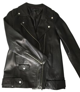 Zara Leather Real Leather Leather Jacket
