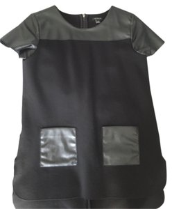 Ann Taylor Faux Leather Tunic