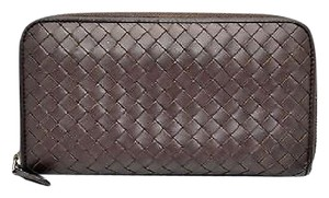 Bottega Veneta C0 Bottega Veneta Brown Intrecciato Wallet