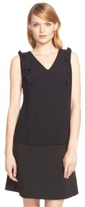 Kate Spade Ruffle Career Sleeveless Keyhole Frilly Top BLACK