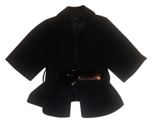 Apt. 9 Belted Woven Textured Top Black