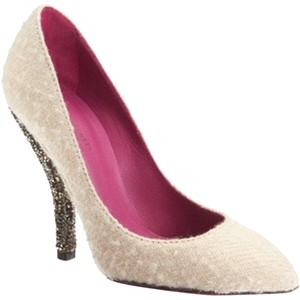 Bottega Veneta Cream Crystals Pumps