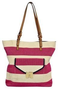 Tommy Hilfiger Canvas Tote in Vanilla/Pink