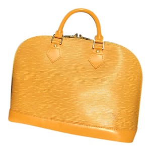 Louis Vuitton Alma pm yellow Handle bag Satchel in yellow